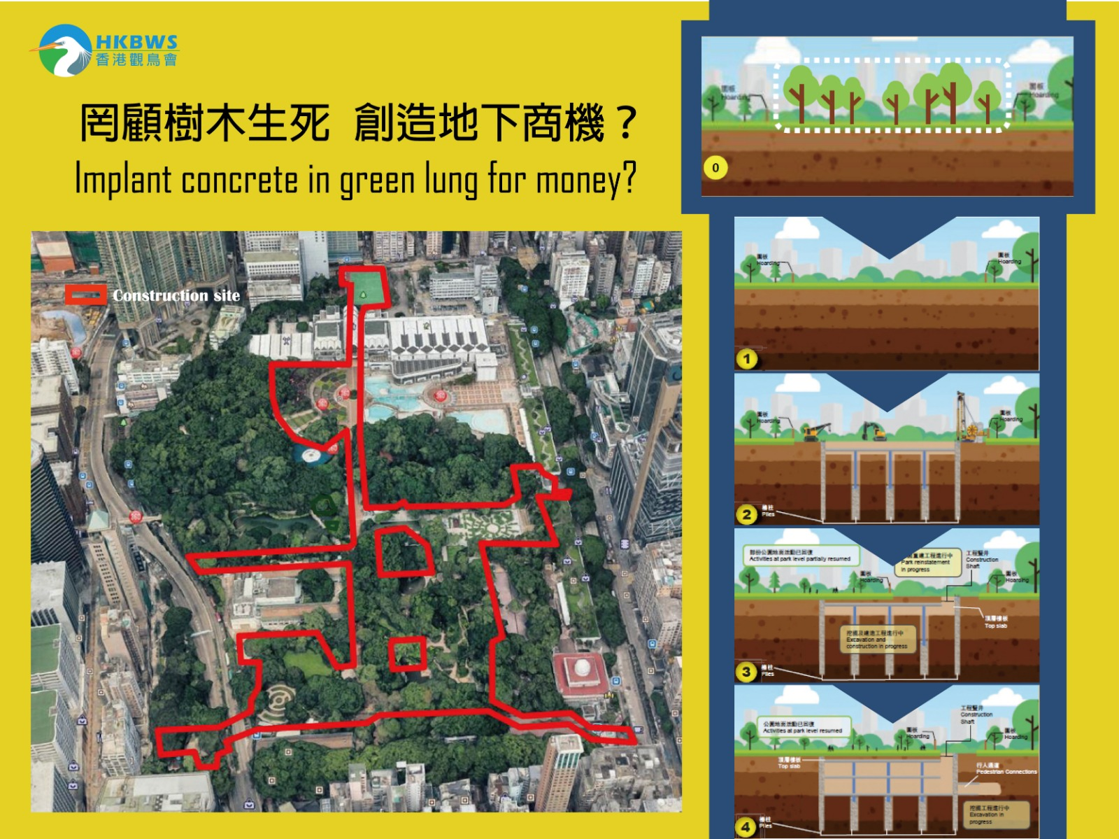 Underground Space Development at Kowloon Park - Implant concrete in green lung for money?
