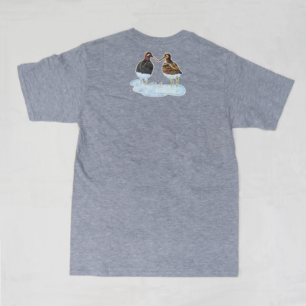彩鷸親子 T-Shirt (灰色) Greater Painted-snipe Family T-shirt (Grey)