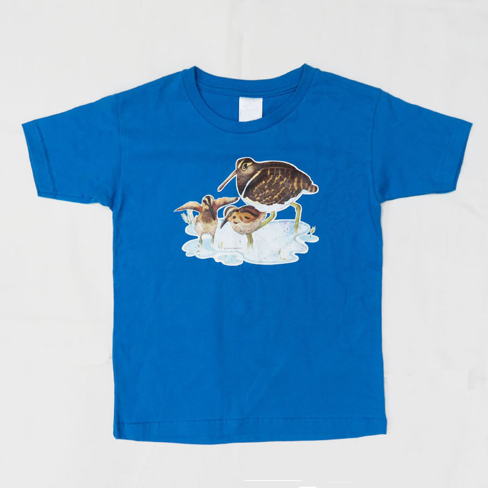 彩鷸親子 T-Shirt (淺藍色) Greater Painted-snipe Family T-shirt (Light Blue)