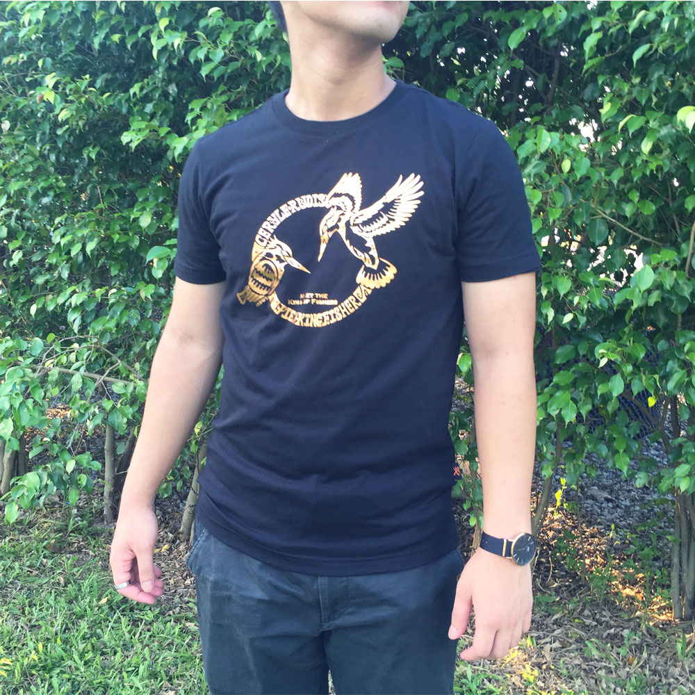 斑魚狗 T-Shirt  Pied Kingfisher T-shirt