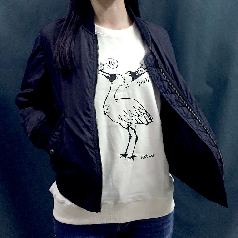 黑臉琵鷺有機棉長袖Tee Black-faced Spoonbill Organic Sweatshirt (公價 Fixed Price)