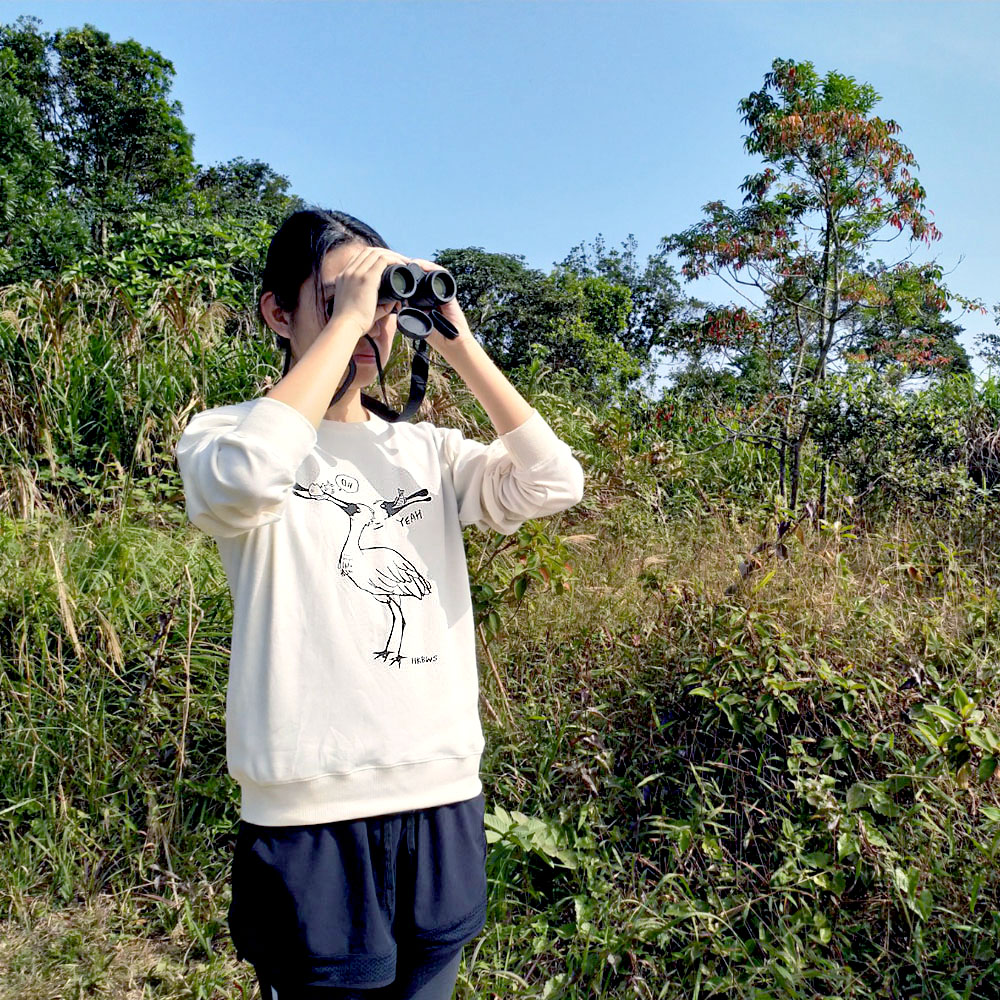 黑臉琵鷺有機棉長袖Tee Black-faced Spoonbill Organic Sweatshirt