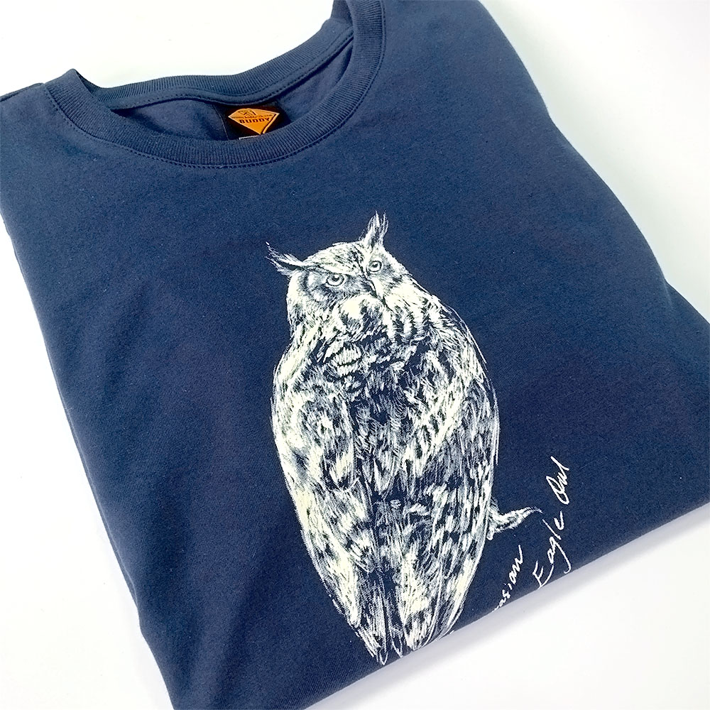 鵰鴞全棉Tee Eurasian Eagle Owl Cotton T-shirt (公價 Fixed Price)
