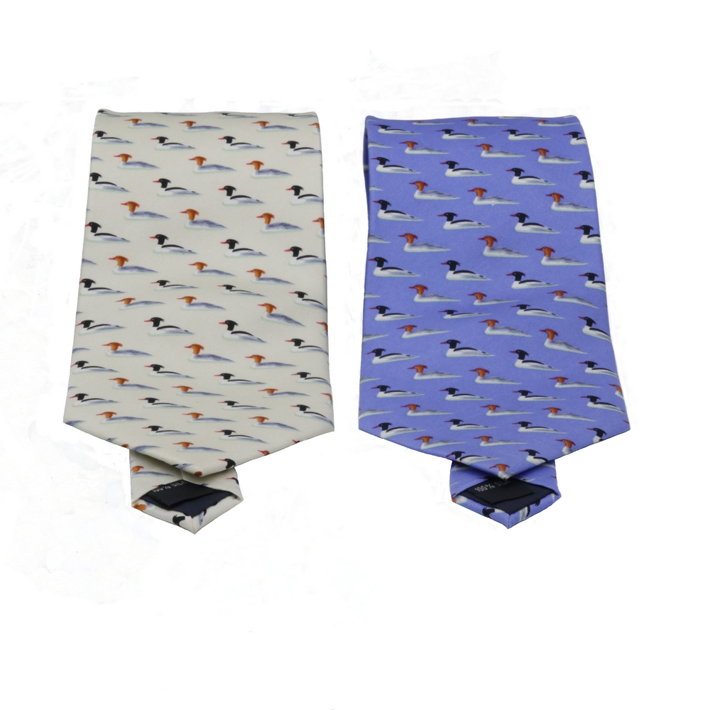 中華秋沙鴨領帶 Scaly-sided Merganser Necktie