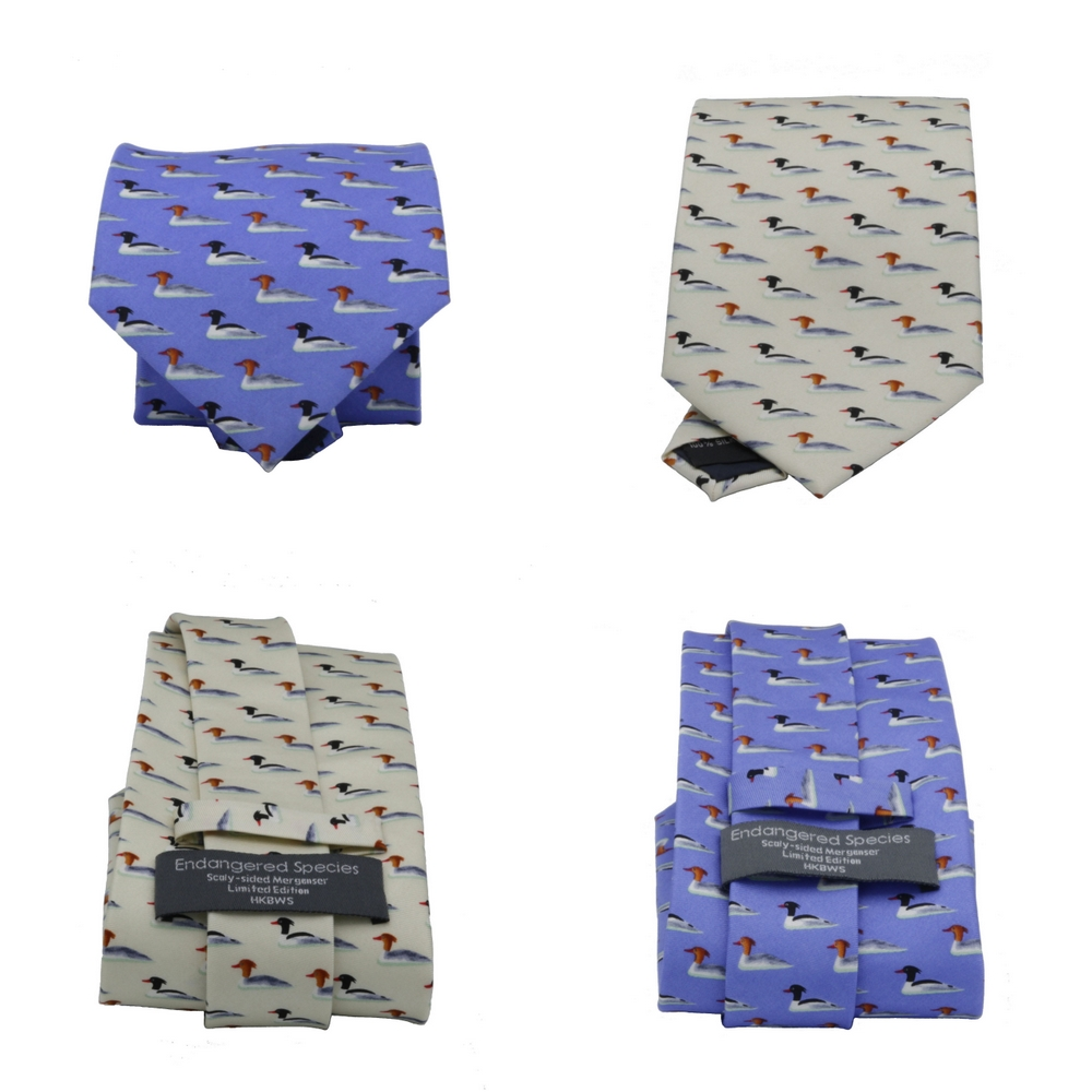 中華秋沙鴨領帶 Scaly-sided Merganser Necktie (公價 Fixed Price)