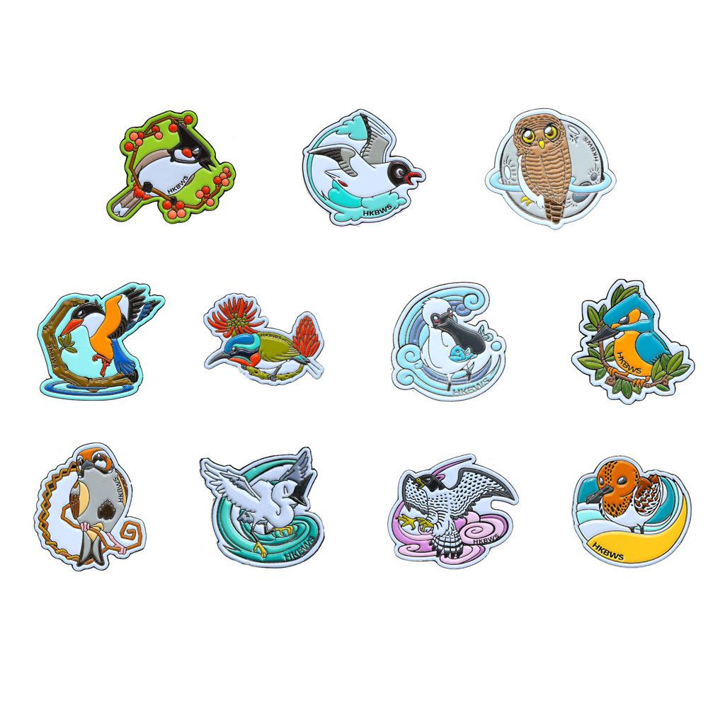 雀鳥襟章套裝 (11款) Bird Pins Set (11 Pins)