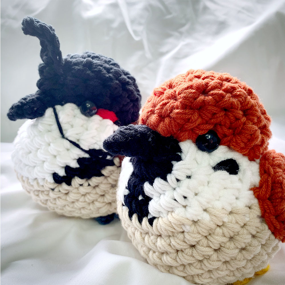 手製毛冷雀鳥公仔 Handmade Crochet Plush Birds