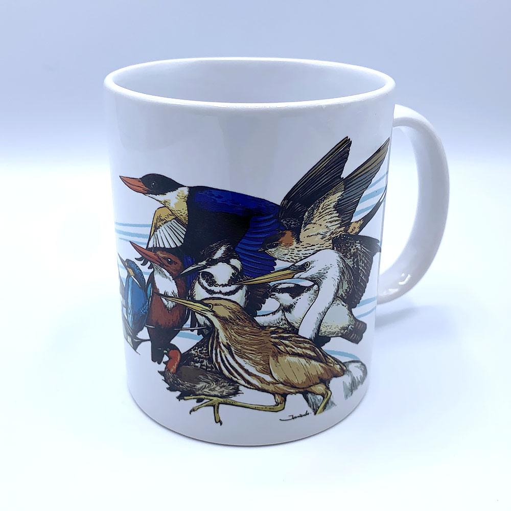 魚塘雀鳥陶瓷杯 Birds of Fishpond Coffee Mug
