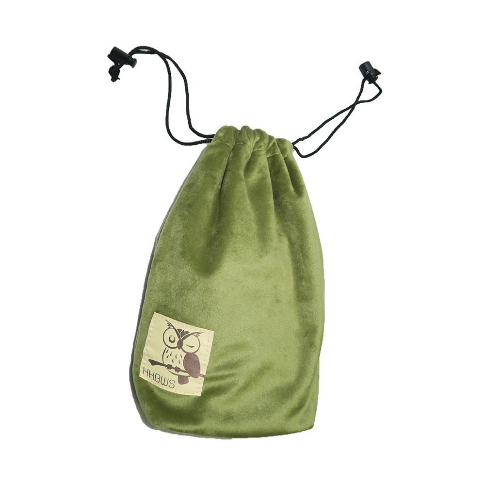 貓頭鷹望遠鏡束口袋(苔蘚綠) Owl Binocular Drawstring Pouch(Moss Green)