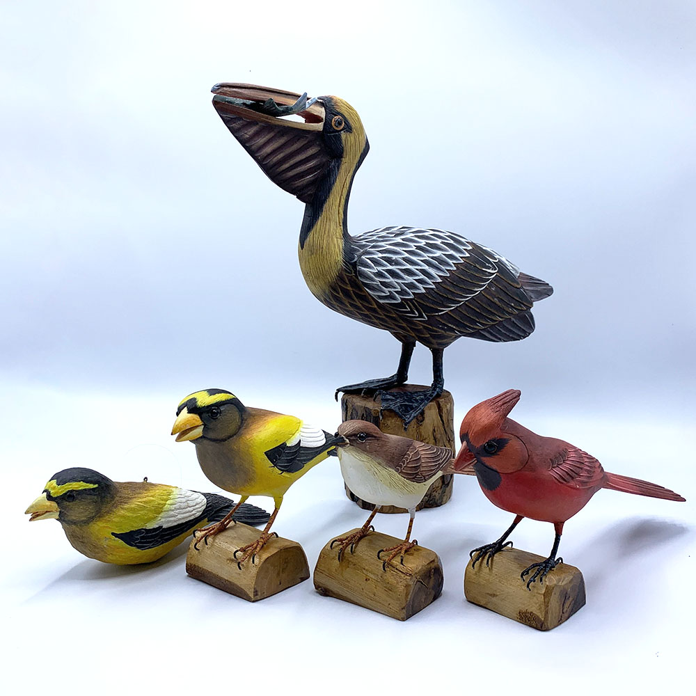 木製雀鳥擺設 Wooden Bird Sculpture