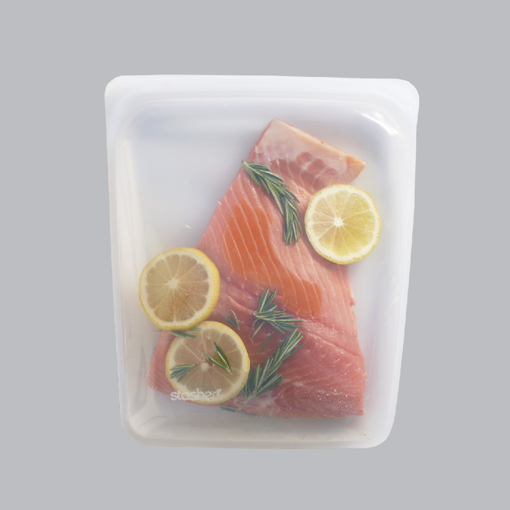 "stasher 矽膠密封袋(慢煮用) stasher Silicone Bag for sous vide(XL-10.25""x8.25"")"