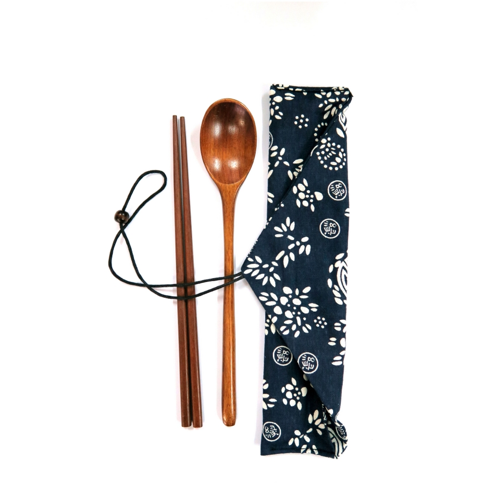日風便擕木餐具套裝 Japanese Style Wood Portable Cutlery Set