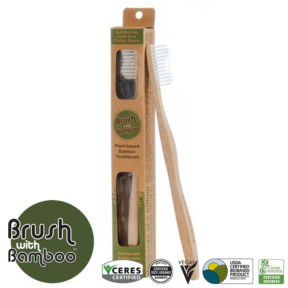 環保竹柄牙刷 Plant-based Bamboo Toothbrush